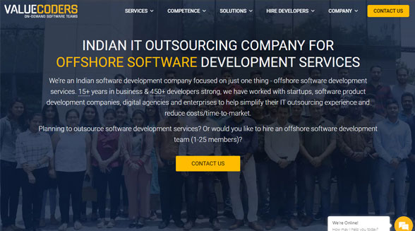 ValueCoders Mean Stack Development Company