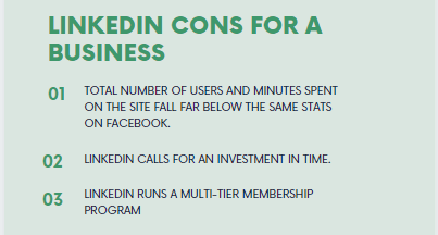 LinkedIn cons