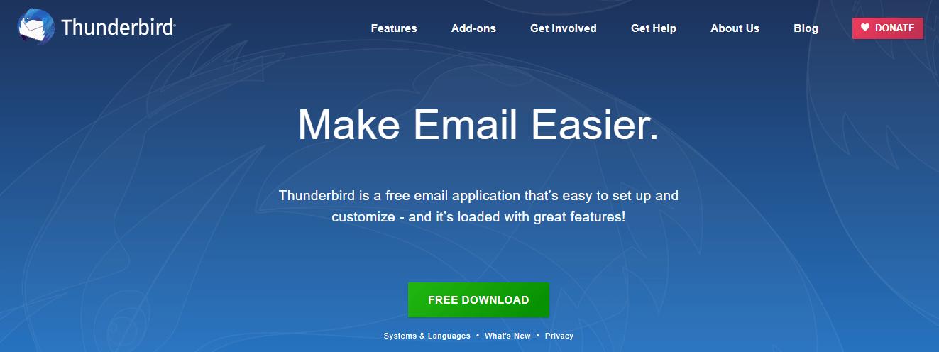 Mozilla Thunderbird Email Service Provider