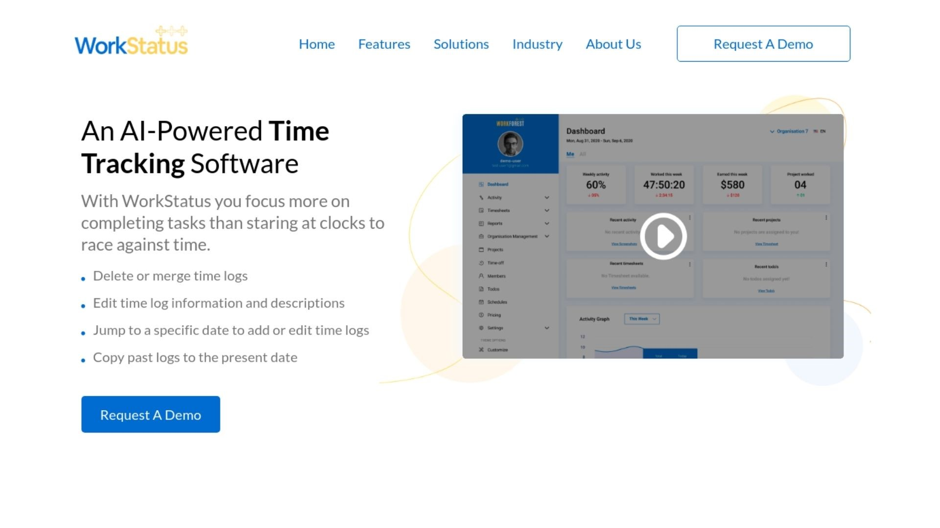workstatus for time tracking