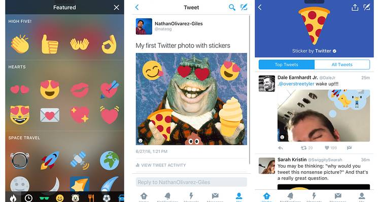 Twitter Latest Stickers Feature